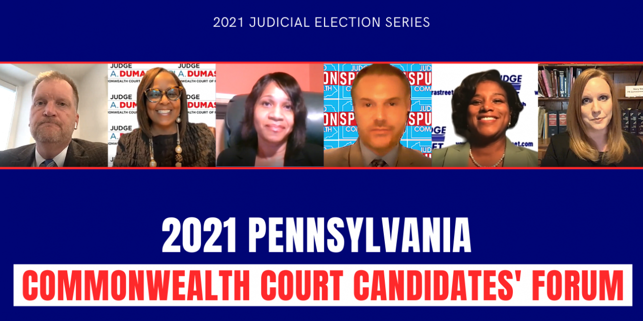 Screenshots of the candidates for PA's Commonwealth Court