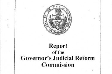 Cover of the Report of the Governor's Judicial Reform Commission